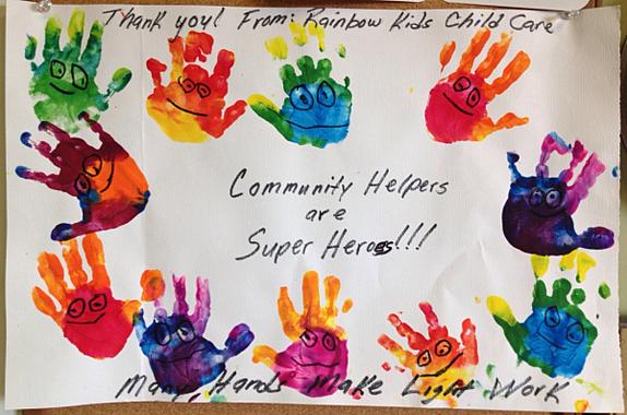 Rainbow Kids Child Care Artwork