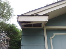 Clarissa's home needed siding repairs