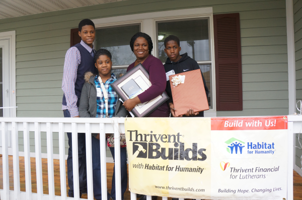 Thrivent Builds Habitat Home
