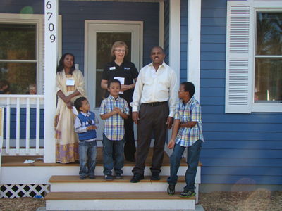 Crystal family home dedication