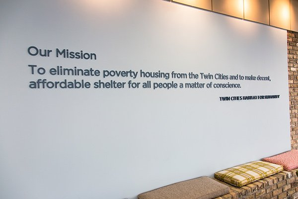Our mission: to eliminate poverty housing for the Twin Cities and to make decent, affordable shelter for all people a matter of conscience.