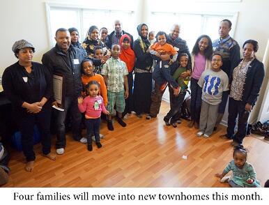 Four families celebrate