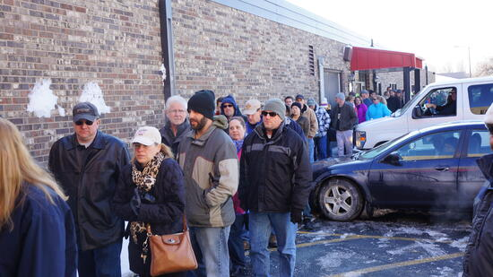 The line for the first-ever ReStore 50% off sale