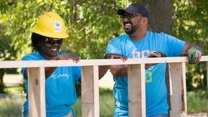 Volunteers building homes with Twin Cities Habitat