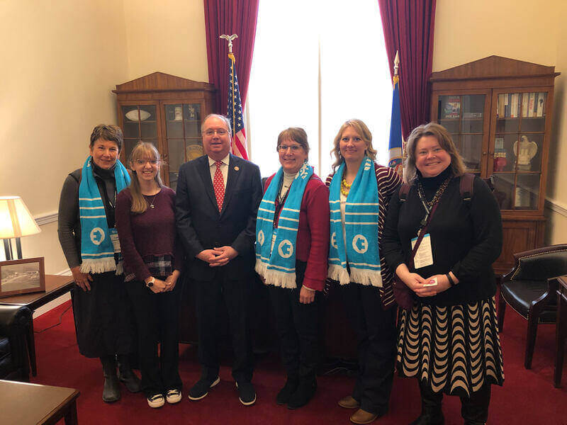 Minnesota Habitat advocates pose for a photo with Representative Jim Hagedorn.