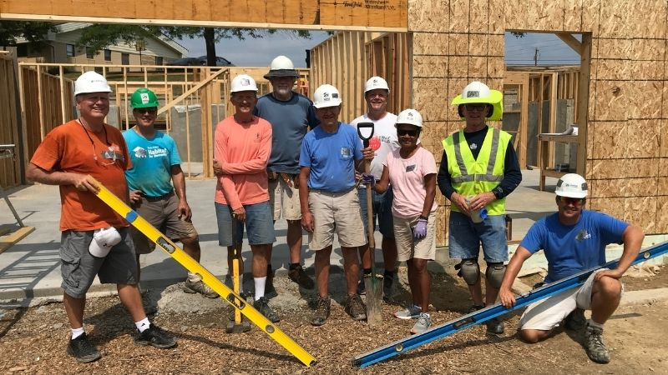 The Pax Christi Crew, with Site Supervisor Skip.