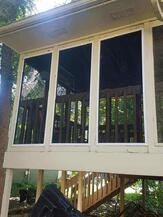 New screens on the porch.