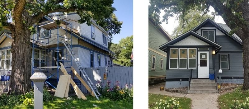 Before and after images of Barry & Susan's home.