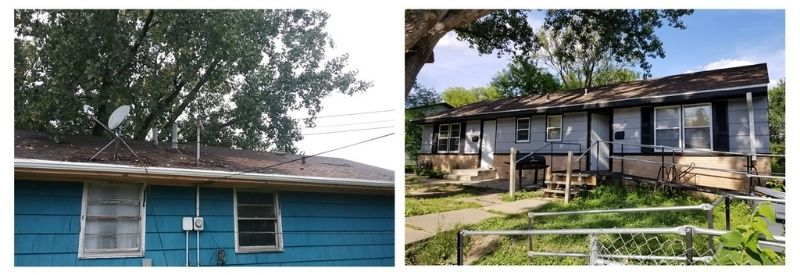 Before and after images of Jack's home.