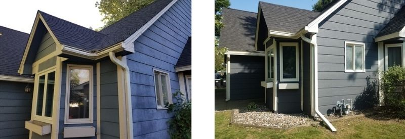 Before and after images of Cassandra's home.