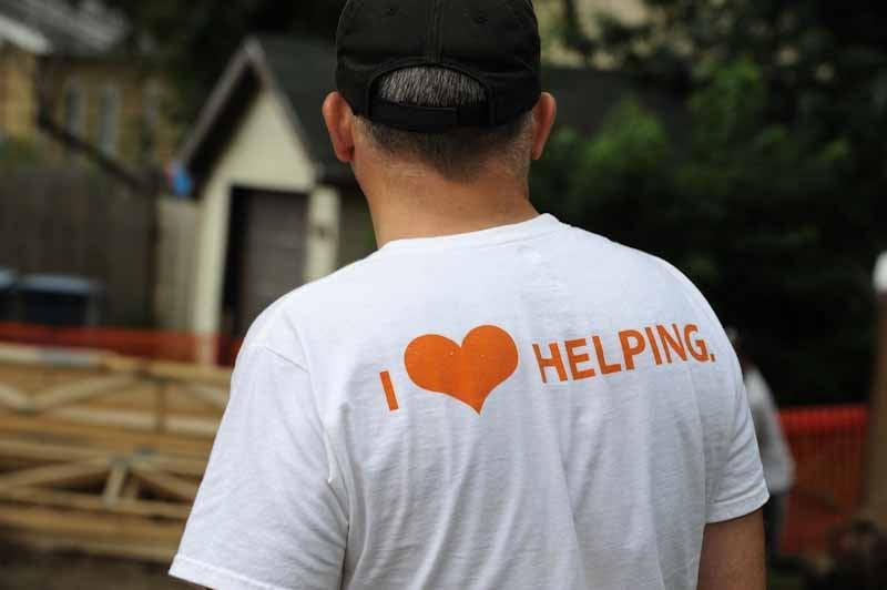 I love helping volunteer