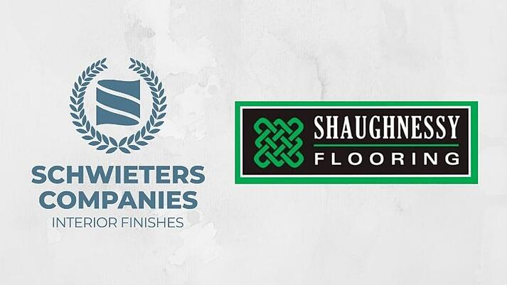 Logos for Schwieters Companies and Shaughnessy Flooring.