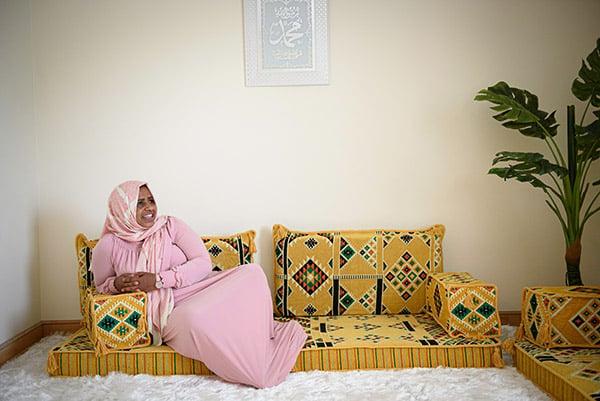 Sofiya lounging