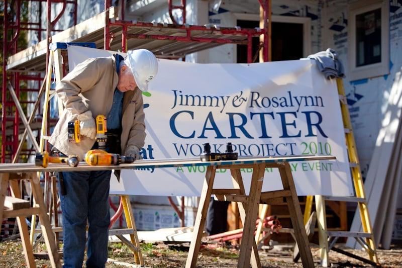 Jimmy Carter at a Twin Cities Habitat build