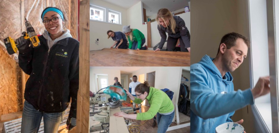 Habitat staff completed a wide variety of tasks at the All Staff Build Day