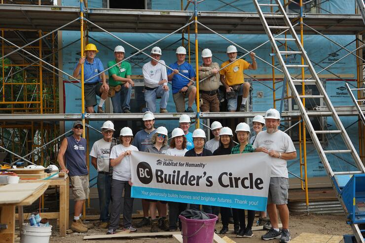 Builder's Circle volunteers at Builder's Circle week.