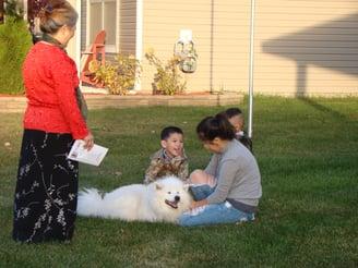 Meeting one of the furry neighbors