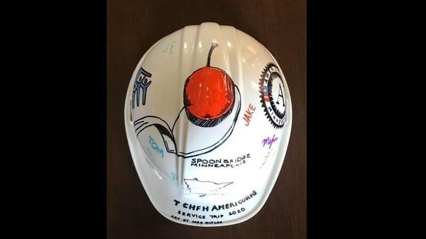 Hard hat art by AmeriCorps member Meg Blyler