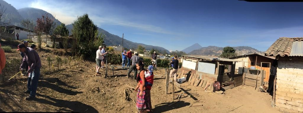 Guatemala Global Village Build - site and mountains