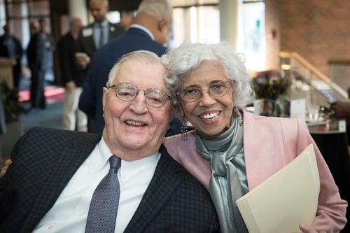 Josie Johnson and Walter Mondale