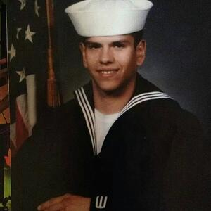 Michael during his time in the Navy