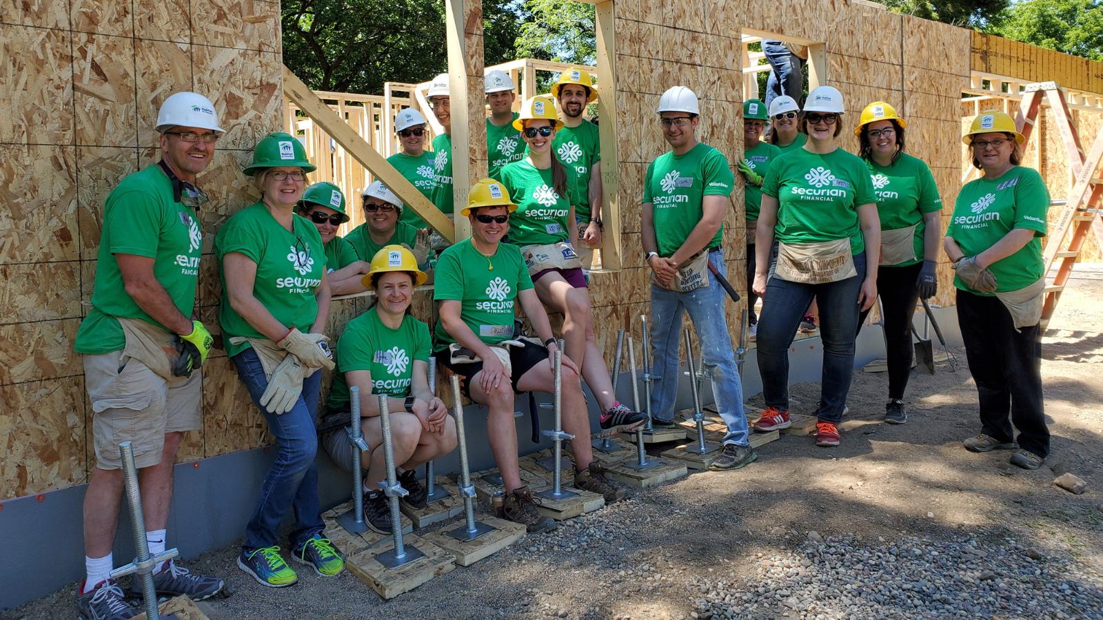 Securian volunteers on site.