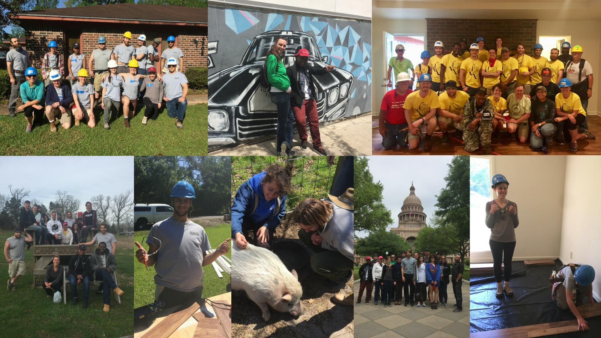Texas Service Trip Collage