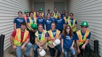 A group of volunteers.
