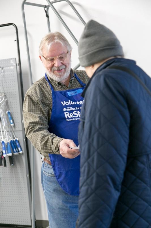 John Hensrud volunteering at ReStore.