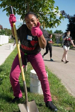 Child volunteering