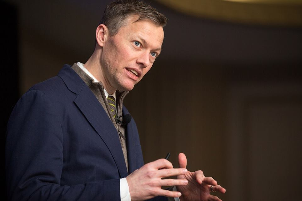Matthew Desmond, author of Evicted, spoke at Hab on the Hill.