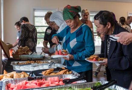 Food spread at Dedication