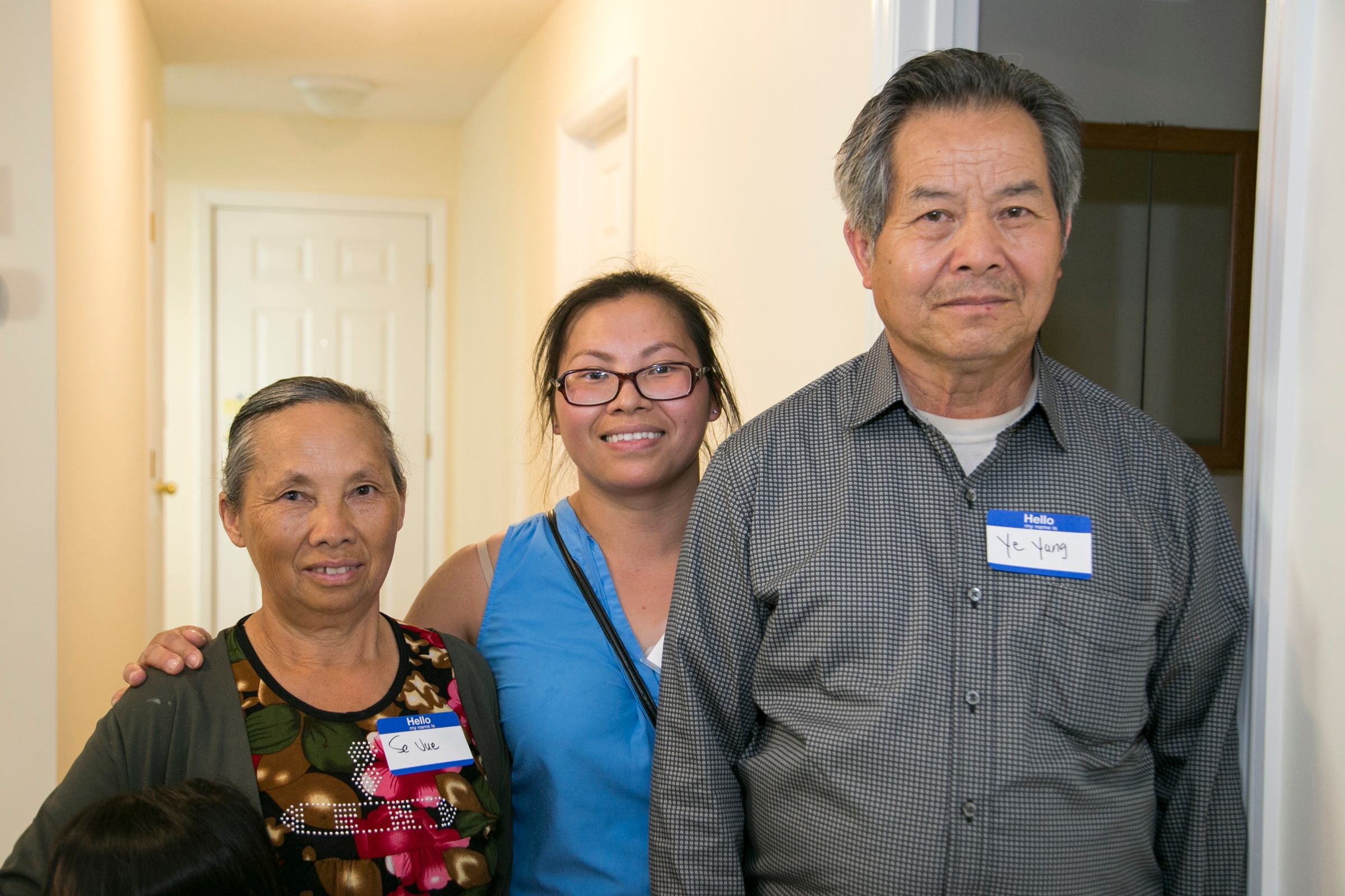 Mai and her parents