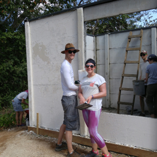 Nate and Rachel on the Costa Rica build site