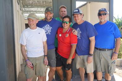 A group of the Costa Rica team
