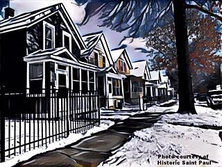 charles ave rendering with historically significant features of homes
