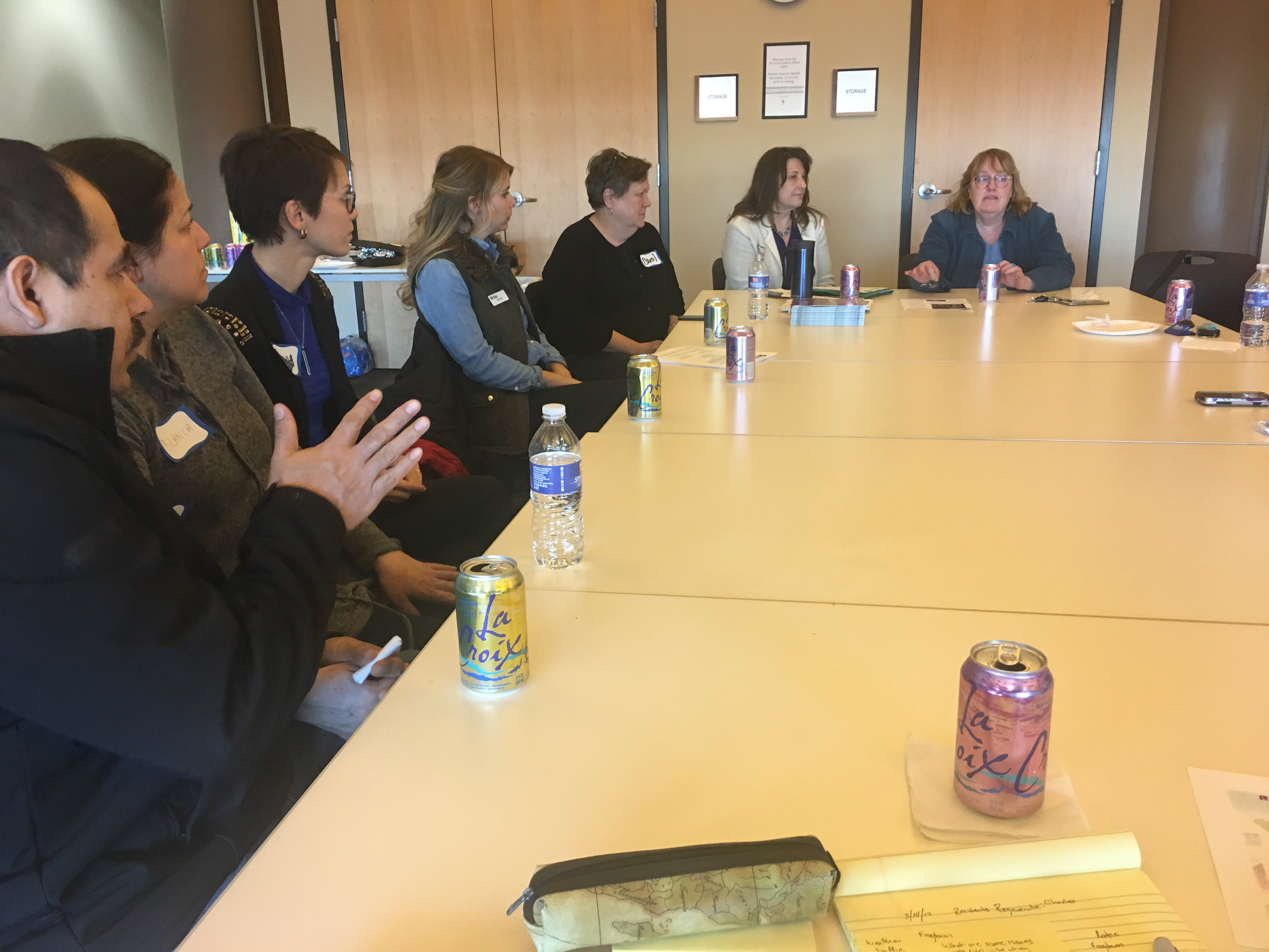 Residence Regenerate meeting with community partners and residents
