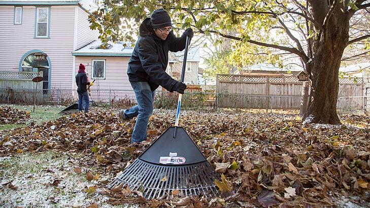 Age in place chore services raking