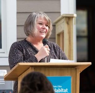 Juanita Speaking at Senior Pastor Build