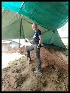 Ann digging sand