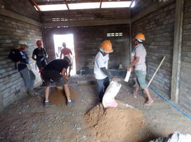 cement floor leveling