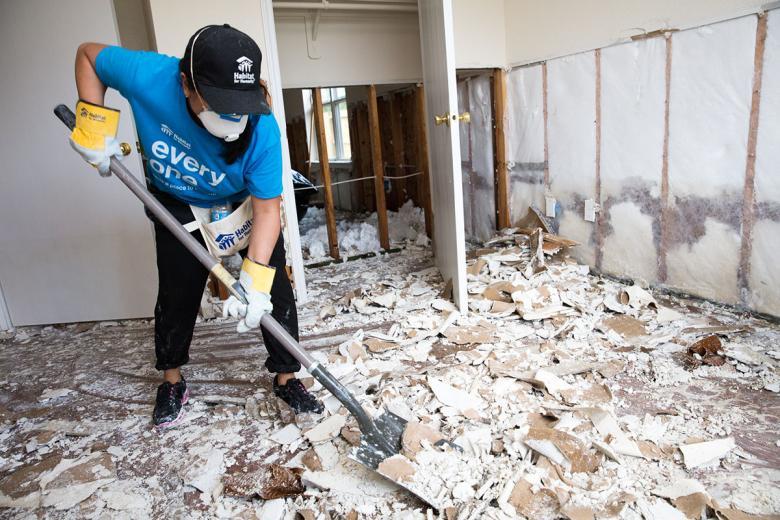 Habitat Disaster Volunteer after Hurricane Harvey