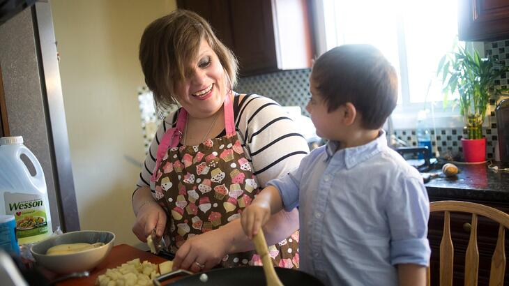 Isabel_and_son_cooking_in_kitchen
