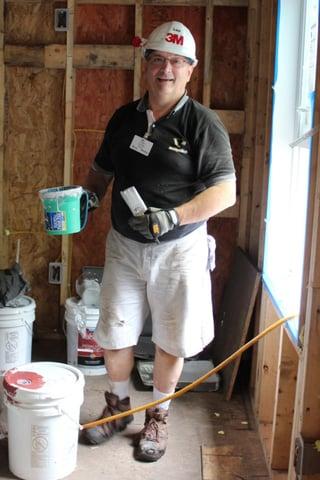 Lou Cristan at a home build