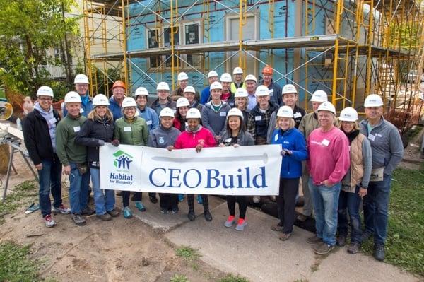 Group photo at CEO Build