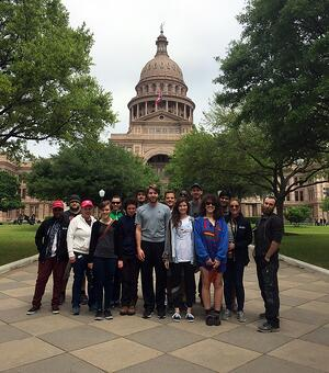 AmeriCorps members at the Texas Capitol