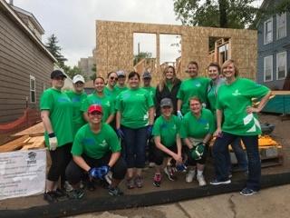 The Women Build team from Associated Bank group shot