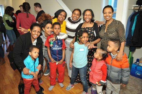 Kids at Adanech's home dedication