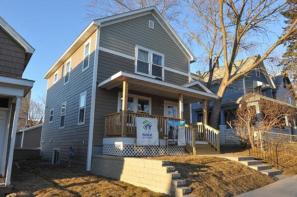 Adanech's finished home at the dedication