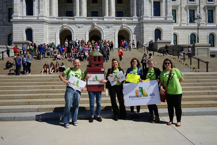 Hab staff & Bill Ding at the Capitol